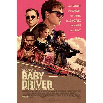 Baby Driver Movie Poster 24inx36in