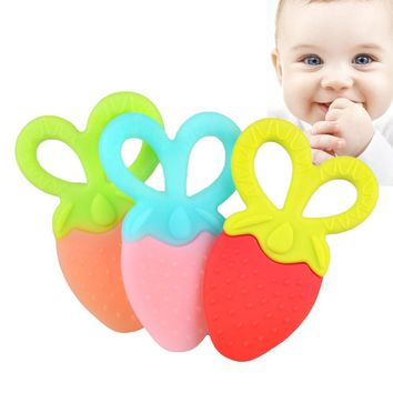 Pure Smart Grip Fruit Teether Biting Toy