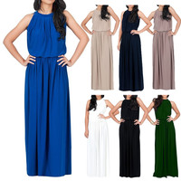 Plus Size Womens Long MAXI Boho Evening Party Dresses Summer Beach Sun Dress