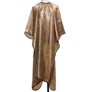 Professional Leopard Pattern Salon Hairdressing Haircut Cloth Nonstick Hair Cape
