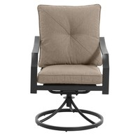 Shop Garden Treasures Vinehaven Set of 2 Steel Patio Conversation Chairs with Cushion at Lowes.com