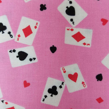 Cards - card - deck - hearts - spade - diamonds - clubs - las vegas - poker - print - vintage -  quilting - cotton  - fabric