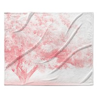 "Sylvia Coomes ""Pink Frost "" White Photography Fleece Throw Blanket"