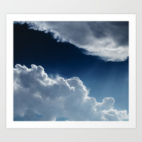 Sky, clouds and lights. Art Print by VanessaGF