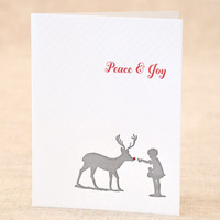 Holiday Peace and Joy Letterpress Card