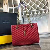 YSL SAINT LAURENT TOP QUALITY LEATHER CHAIN SHOULDER BAG