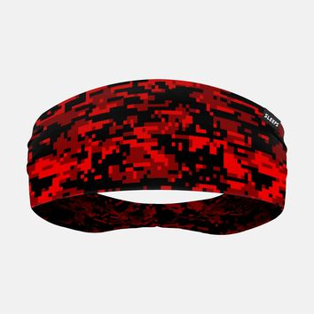 Digital Camo Red Beast Headband