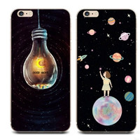 Good Night Unique Print Black Iphone Cases for 6 6S Plus