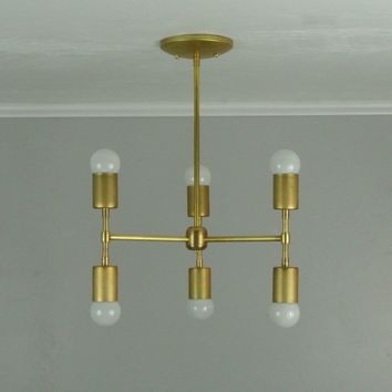 Vertical T-Bar Chandelier