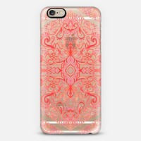 Watercolor Lace in Coral & Rose on Transparent iPhone 6 case by Micklyn Le Feuvre | Casetify
