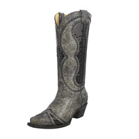 Corral Vintage Womens Sequence Diamond Inlay Western Cowgirl Boot