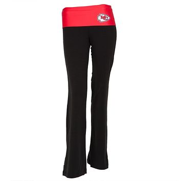 Kansas City Chiefs - Flip Down Waistband Logo Juniors Yoga Pants