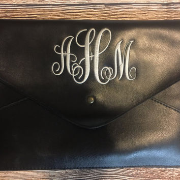 Monogrammed Clutch, Personalized Clutch, Leather Clutch, Personalized Purse, Monogram Purse,
