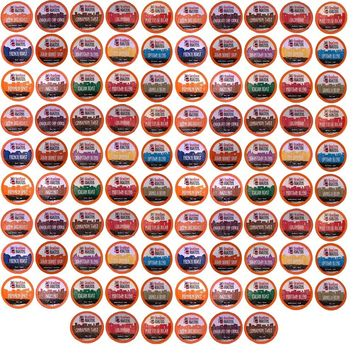 96 K-Cup Variety Pack 15 Distinct Beantown Roasters Coffees No Decaf for Keurig Brewers