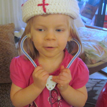 Nurse Hat PDF Crochet Pattern - Newborn to Adult Sizes INSTANT DOWNLOAD
