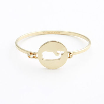 Shop Jewelry: Pierced Whale Disk Bangle for Women | Vineyard Vines