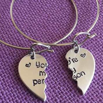 You're my person Bracelets - Best Friend Jewelry - Anatomy quote - BFF Jewelry - Youll always be my person