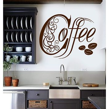 Vinyl Wall Decal Kitchen Coffee Shop House Cafe Decor Stickers Mural Unique Gift (ig3308)