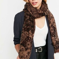 Brushed Intarsia Woven Scarf - Urban Outfitters