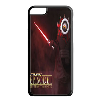 Funny Minion Wallpaper Darth Maul Star Wars iPhone 6S Plus Case