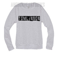 One Direction, Louis Tomlinson Crew Neck Sweatshirt 1D #91