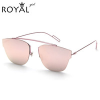 High Quality Metal Frame Fashion Cat Eye Sunglasses Women Brand Designer Vintage Sunglass Men Sun glasses Oculos de sol ss288