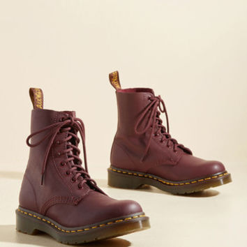 March Through Manhattan Leather Boot in Merlot | Mod Retro Vintage Boots | ModCloth.com