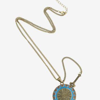 Licensed cool WONDER WOMAN Shield & Removable Sword Necklace Jewelry DC  Licensed NWT