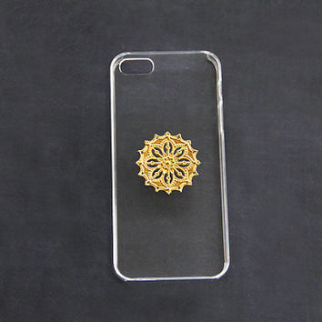 Mandala iPhone 5 Case iPhone 5s Clear Transparent Cases Cover Hard Plastic Case Galaxy S3 S4 S5 Hippie Hipster Psychedelic Case iPhone 5c 4