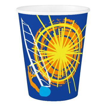 Sunshine and windsurfing paper cup