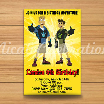 New Wild Kratts Design Invitation - Digital File
