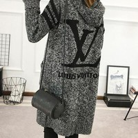 Louis Vuitton Chanel LV Adidas Trending Women Letter Print Long Sleeve Hoodie Sweater Knit Cardigan Jacket Coat I