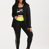 Torrid Active - Perforated Shadow Stripe Hoodie
