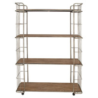 "73"" Tall Metal Rolling Shelf, Wall Shelving & Brackets"