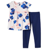 Carter's Flower Babydoll Tunic & Leggings Set - Baby Girl, Size: