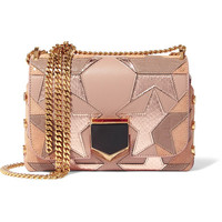 Jimmy Choo - Lockett Petite patchwork suede, leather and elaphe shoulder bag