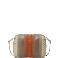 Bottega Veneta Striped Leather Pillow Bag