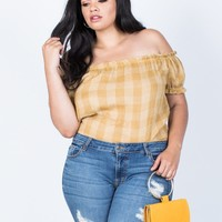 Plus Size Jenna Checkered Top