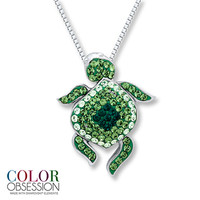 Turtle Necklace SWAROVSKI ELEMENTS Sterling Silver