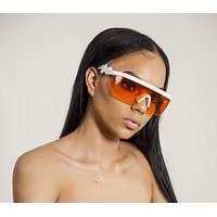 Red Retro Wrap Sunglasses