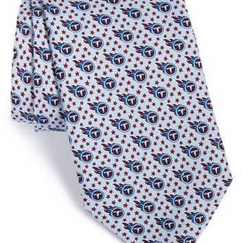 Men's Vineyard Vines 'Tennessee Titans - NFL' Woven Silk Tie, Size Regular - Blue