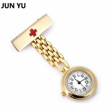 Gold Sliver Doctor Pocket Watches  Nurses Watch Fob Hanging Medical Pocket Watch Relogio Clock Stainless Steel