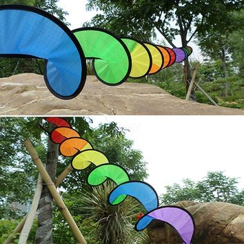 1PC Foldable Rainbow Spiral Windmill Tent Colorful beautiful Wind Spinner Garden Home Decoration outdoor camping picnic 22*140cm