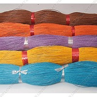 Wholesale Cheap Domestic Cotton Wax Cords, Mixed Color, 1mm at Lovehobbycraft.com