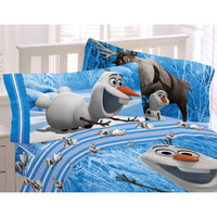 Disney Frozen Olaf Snowman Bed Sheet Set Made Of Snow Bedding Accessories