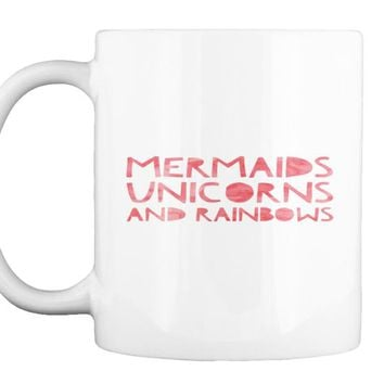 Mermaids Unicorns And Rainbows   Mens Ringer T Shirt
