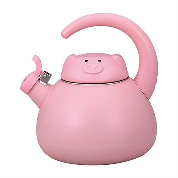 Pink Pig Whistling Tea Kettle