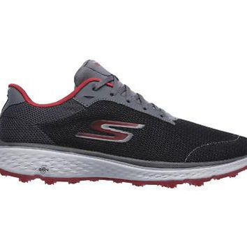 Licensed Golf Skechers 2018 Go  Fairway Mens  Shoes 54517 - Charcoal/Red - Pick Size