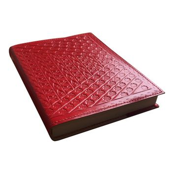 Genuine Leather Embossed Refillable Handmade Journal / Notebook