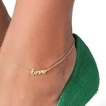 Best Elegant Sexy Anklet Foot Chain Ankle Bracelet Love Charm Sandal Jewelry = 1958475780
